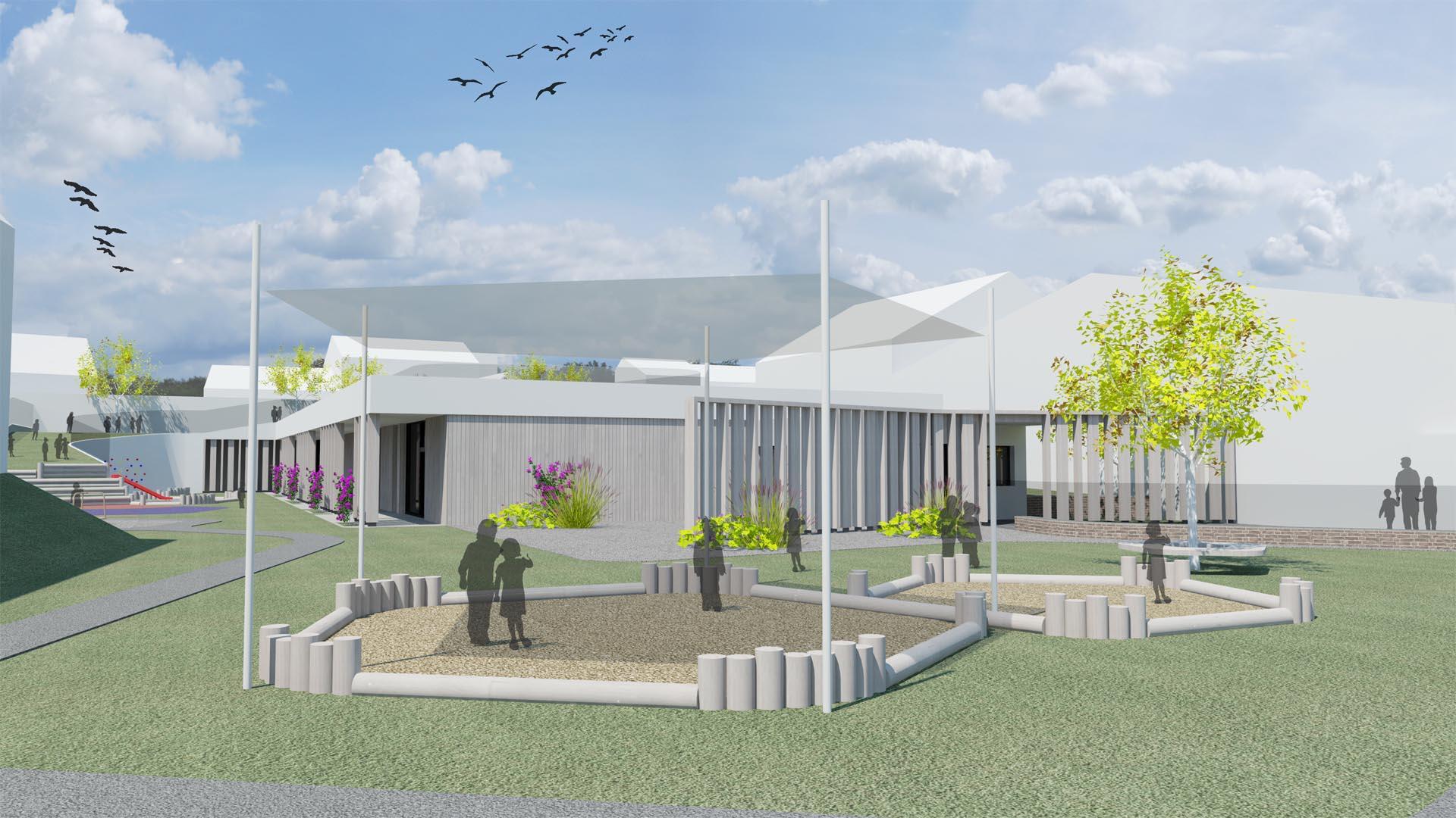 kindergarten wettbewerb architektur landschaftsplanung
