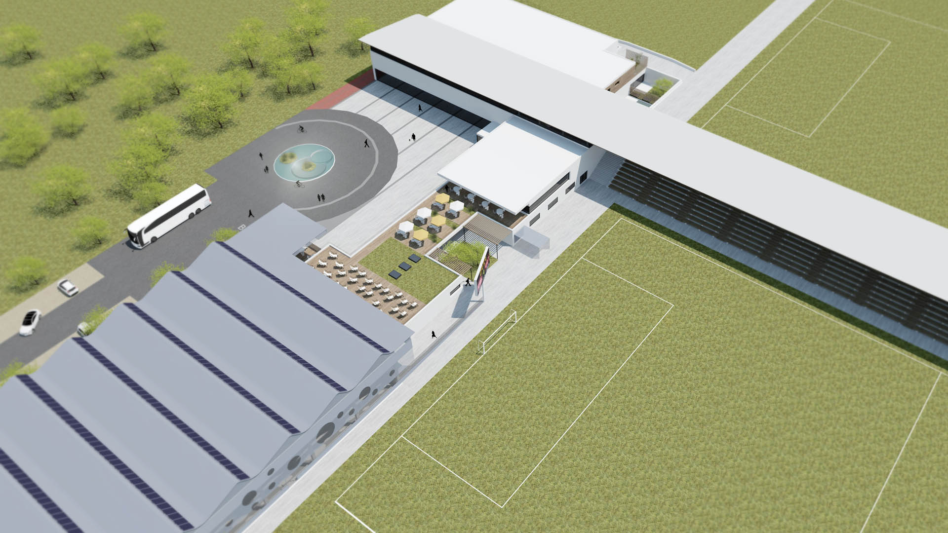 sportpark gänserndorf architektur