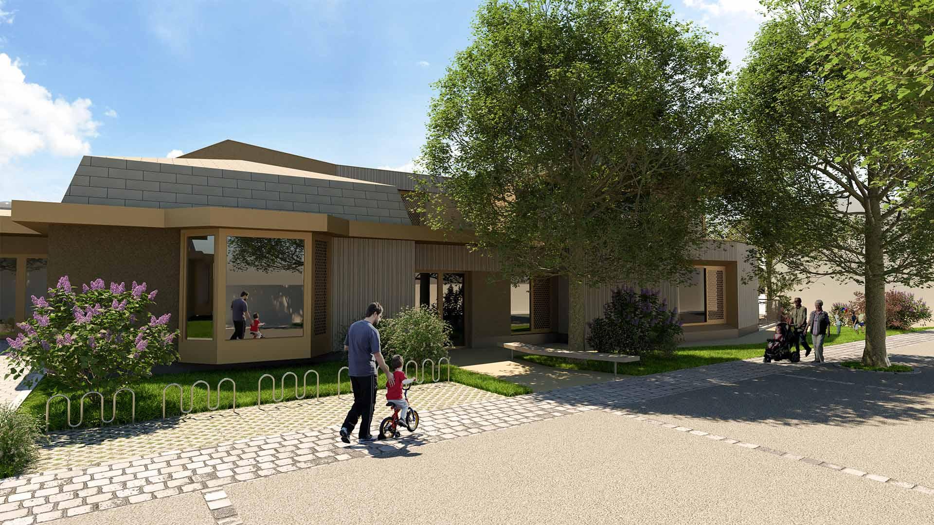 kindergarten zubau gänserndorf architektur