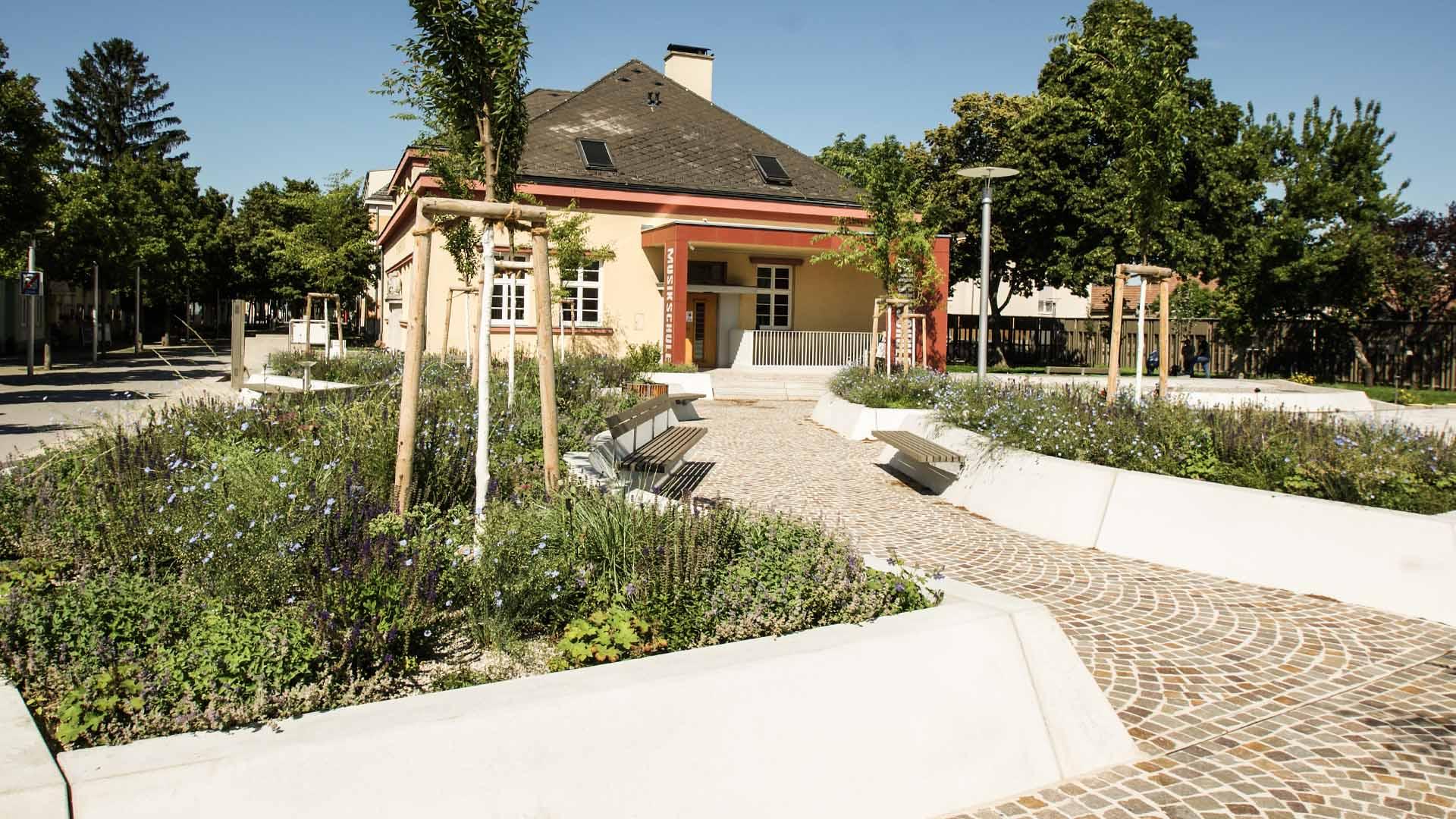 marktplatz deutsch wagram architektur landschaftsplanung