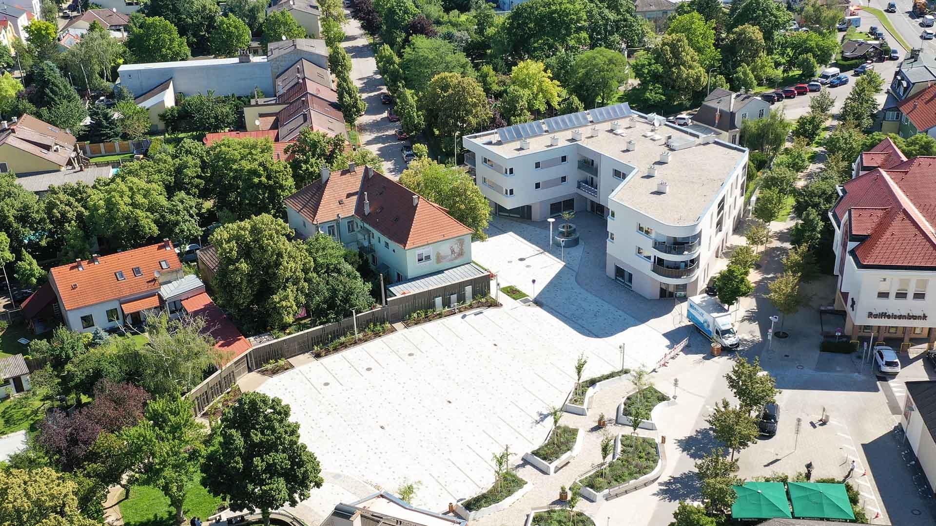 wohnhausanlage marktplatz deutsch wagram architektur